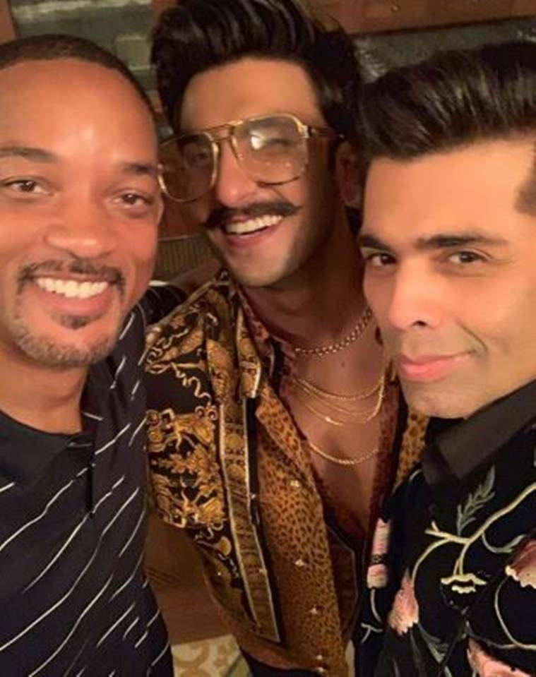 will smith, karan johar, ranveer singh