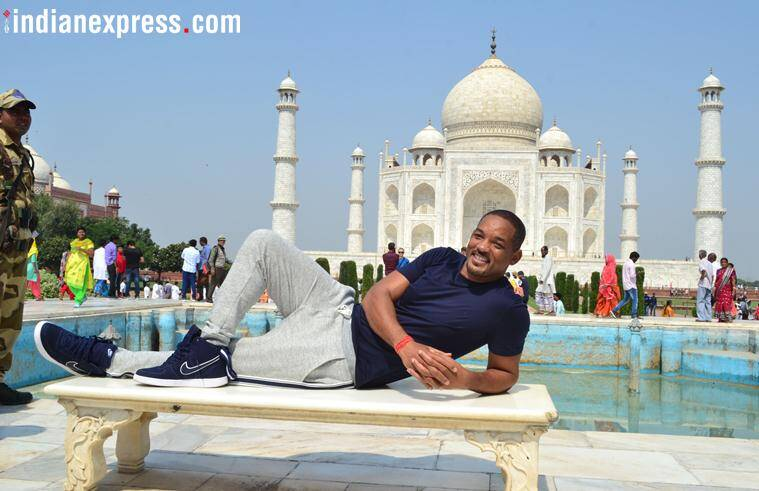 will smith visits taj mahal
