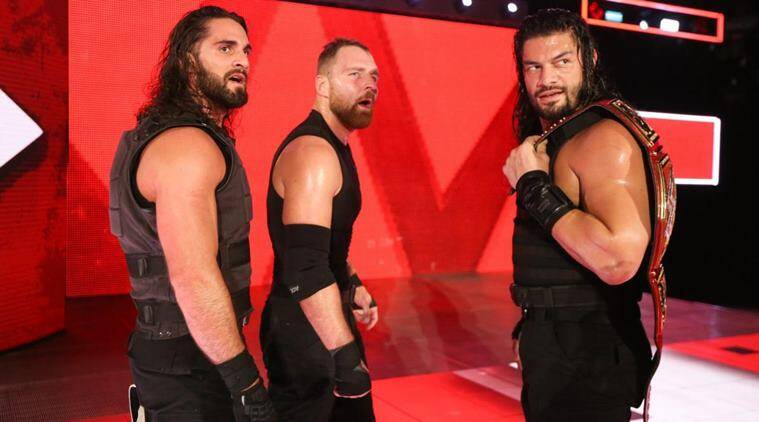 Seth Rollins Dean Ambrose and Roman Reigns on WWE Raw