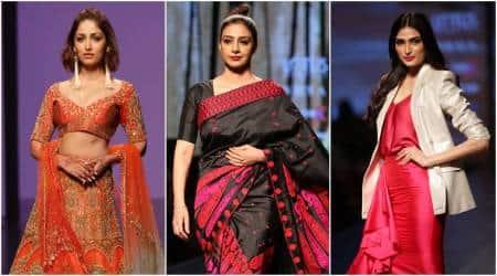 Lotus Make-Up India Fashion Week: Tabu, Athiya Shetty, Yami Gautam sizzle on the ramp on Day4