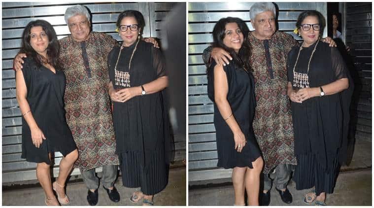 Zoya Akhtar, Javed Akhtar, Shabana Azmi