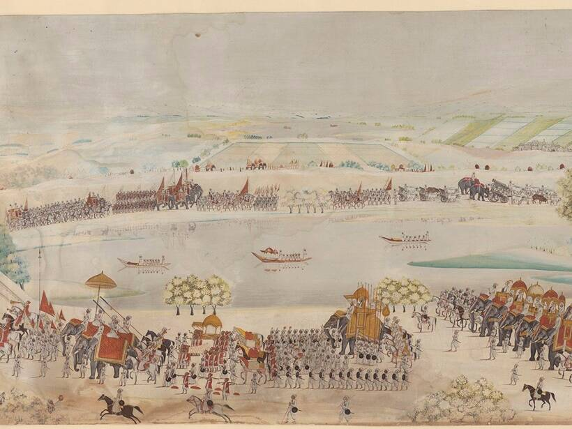 royal procession of Shah Alam II