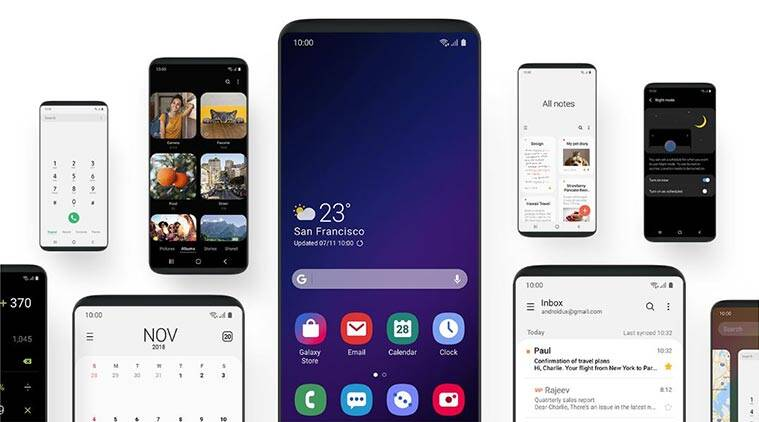 samsung, samsung One UI, One UI interface, samsung developer conference, sdc 2018, One UI design, One UI dark mode, One UI night mode, One UI focus blocks, One UI roll out, One UI release date, One UI devices, One UI android pie update, samsung galaxy note 9, samsung galaxy s9+, samsung infiniy flex
