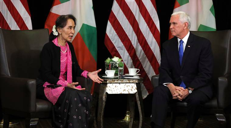 Mike Pence says Myanmar's handling of Rohingya 'without excuse'