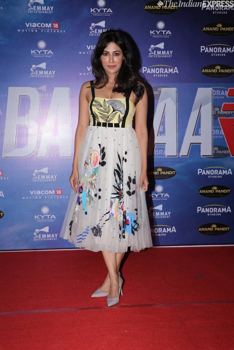 Chitrangada Singh looked pretty as she posed for the shutterbugs at the success bash of Baazaar. (Photo credit: Varinder Chawla)