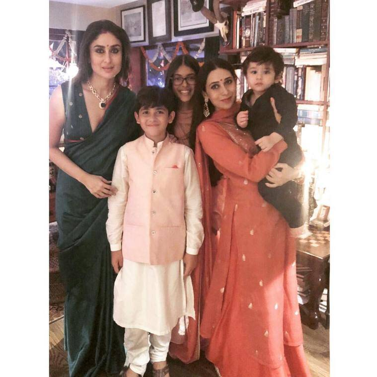 taimur at diwali party