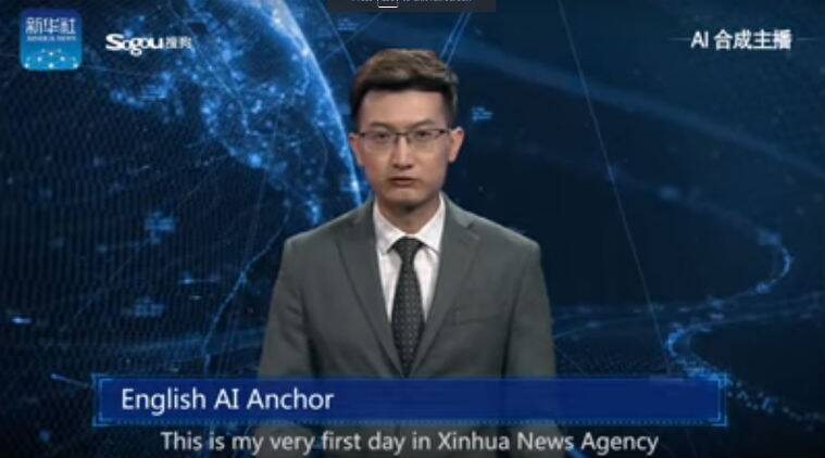 Artificial Intelligence, AI, AI news anchor, AI news anchor China, AI English news anchor, first AI TV anchor, Xinhua robot news anchor, Xinhua AI news anchor