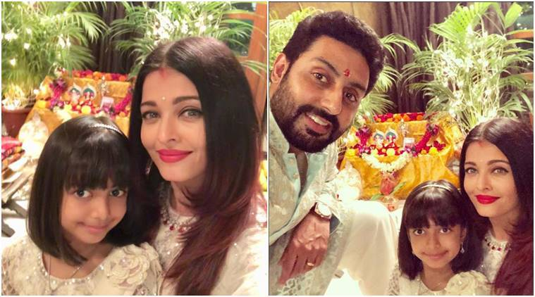 Aishwarya Rai Bachchan, Amitabh Bachchan, Abhishek Bachchan, Aaradhya Bachchan, Jaya Bachchan, Diwali, Diwali 2018, Aishwarya Rai Bachchan Diwali fashion, Aishwarya Rai Bachchan Diwali celebrations, Aishwarya Rai Bachchan style, Aishwarya Rai Bachchan ethnic wear, Aishwarya Rai Bachchan traditional wear, celeb fashion, bollywood fashion, indian express, indian express news