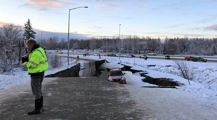 Alaska, earthquake, Anchorage earthquake, earthquake US, Tsunami warning alaska, Anchorage quake, indian express, latest news