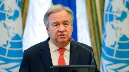 united nations, un secretary general antonio guterres, libya, world news, indian express