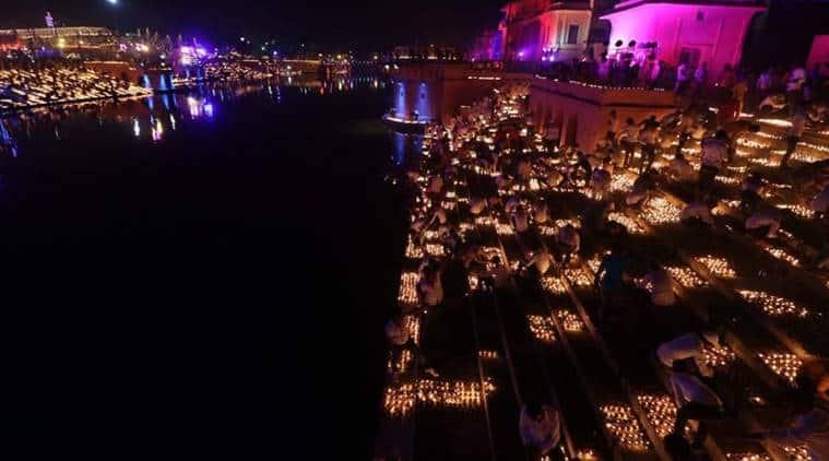 Lakh Diyas Illuminate Ayodhya River Bank In New Guinness World Record