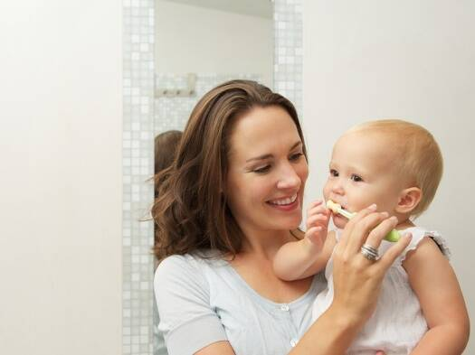 Start your child early on a dental hygiene routine