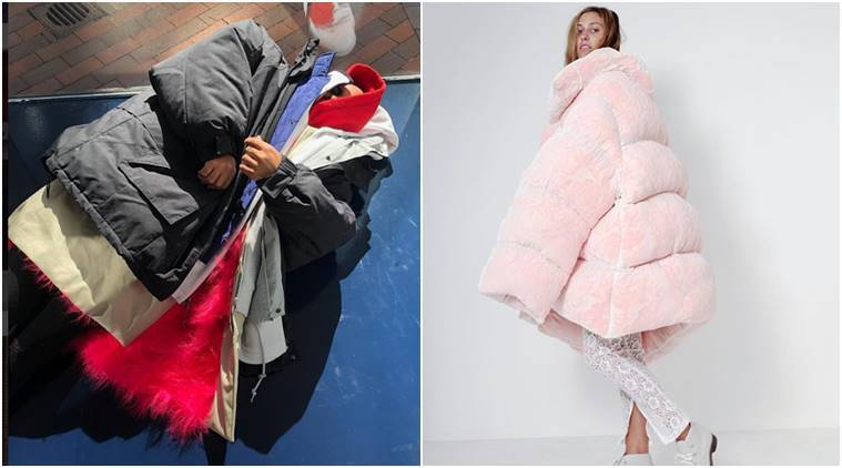 Rihanna, Kendall Jenner, Kylie Jenner, giant jackets, oversized jackets, oversized coats, balenciaga, winter fashion, winter jackets, celeb fashion, indian express, indian express news