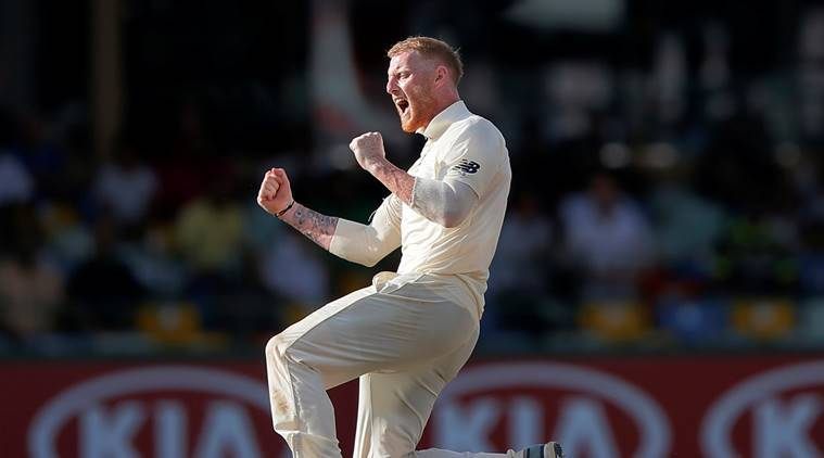 England's Ben Stokes celebrates after taking the wicket of Sri Lanka's Niroshan Dickwella (not pictured).