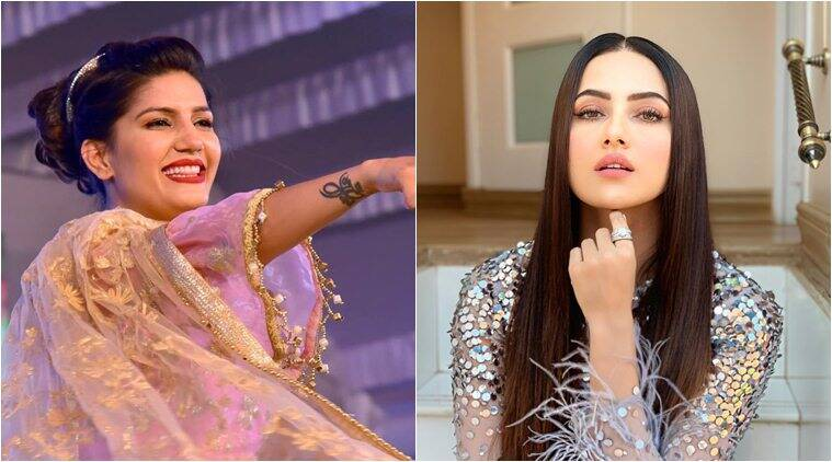 sana khan and sapna chaudhary in bigg boss 12