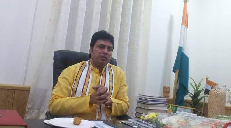 Tripura police, tripura student arrested abusive social media post, sbusive post on biplab deb, abusive language post on biplab deb, tripura cm biplab deb, indian express