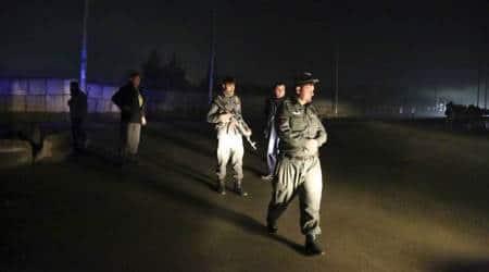afghanistan car bomb blast, kabul car bomb blast, kabul blast, ashraf ghani peace talks, afghan blast, indian express, world news
