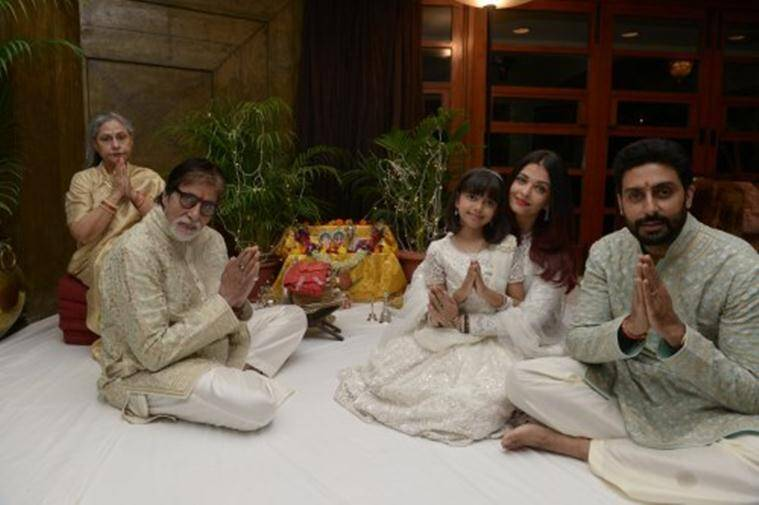 aishwarya rai diwali photos with aaradhya