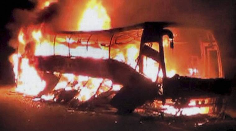 Dharmapuri bus burning case, dharmapuri bus fire case, AIADMK members convicted, life imprisonment, early release, palaniswami, tamil nadu government, tamil nadu governor, tamil nadu news, indian express