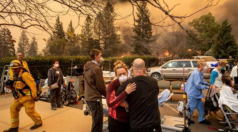 Motorists die as they flee California wildfires