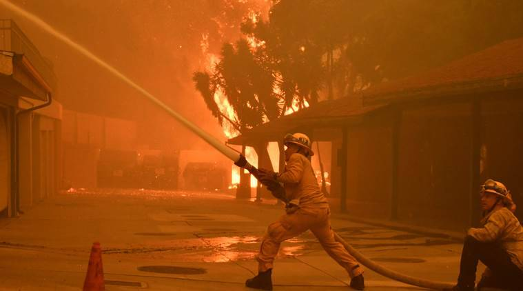 Southern California wildfire doubles in size