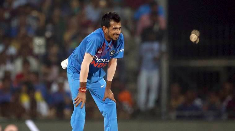 India's Yuzvendra Chahal reacts after bowling a delivery to West Indies' Denesh Ramdin during the third and last Twenty20 international cricket match between India and West Indies