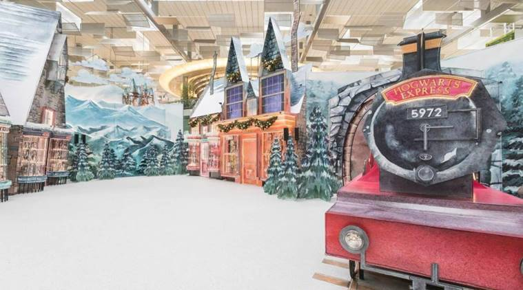 changi airport, harry potter themed airport, changi airport singapore, changi airport harry potter theme, changi airport pictures, harry potter themed airport, indian express news, indian express