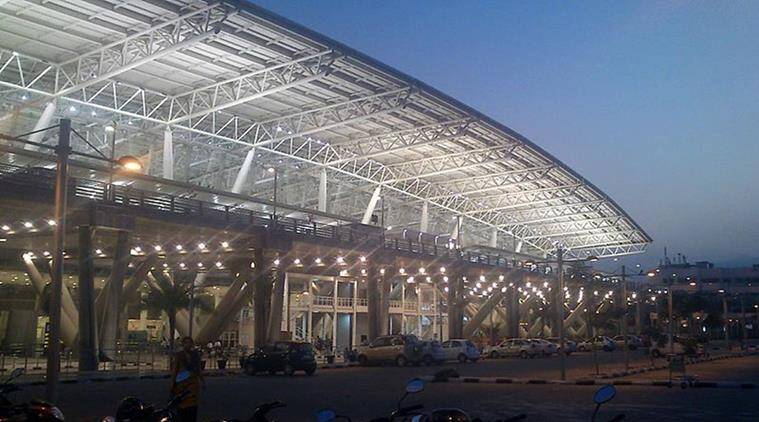 Chennai: Footpath caves in at airport, injures woman