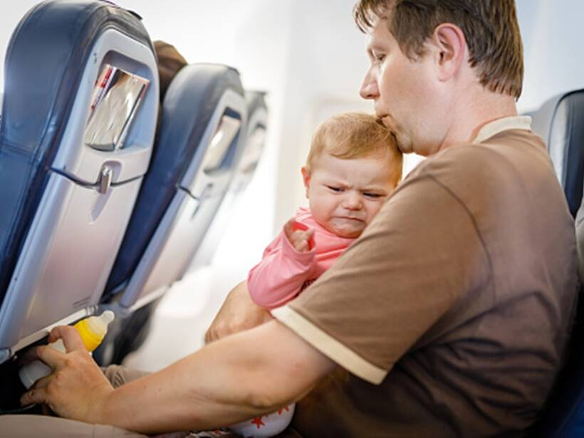 6 ways to stop your baby from crying on a plane
