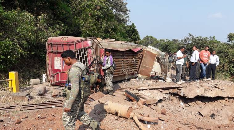 Chhattisgarh naxal attack: Predictability on mind, police pick up the pieces at blast site
