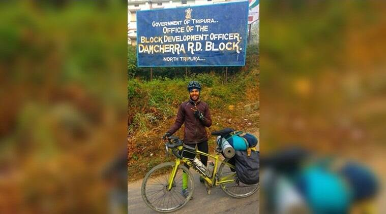 While initially he was gunning for the Santosh Holi's record of 15,200 km solo on cycle, he now wants to cross the 30,000 mark in nine months of continuous cycling.