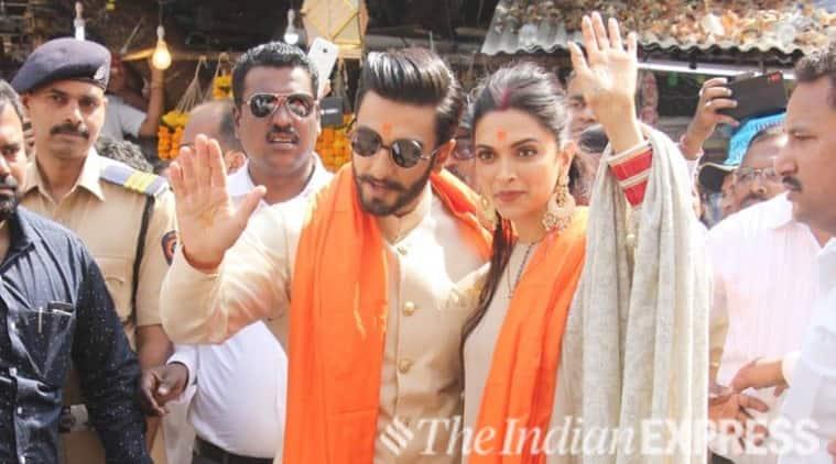 Deepika Padukone and Ranveer Singh Siddhivinayak visit