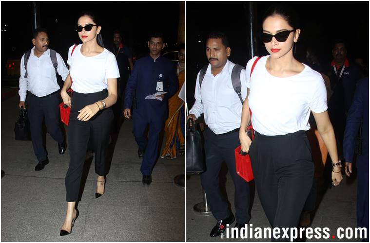 Aishwarya Rai Bachchan, Deepika Padukone, Alia Bhatt, Kangana Ranaut, Anushka Sharma, Deepika Padukone airport fashion, Alia Bhatt airport fashion, Aishwarya Rai Bachchan airport fashion, celeb fashion, bollywood fashion, airport fashion bollywood, latest airport fashion, indian express, indian express news