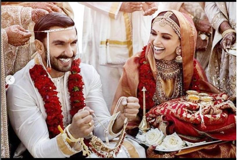 Deepika Padukone and ranveer singh south indian wedding