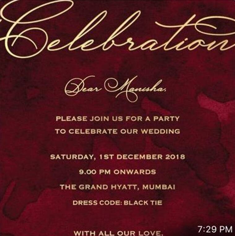 deepika, ranveer wedding reception invite