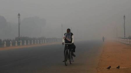 Delhi smog, delhi fog, delhi pollution, air quality, AQI, weather, delhi air pollution, delhi news, indian express