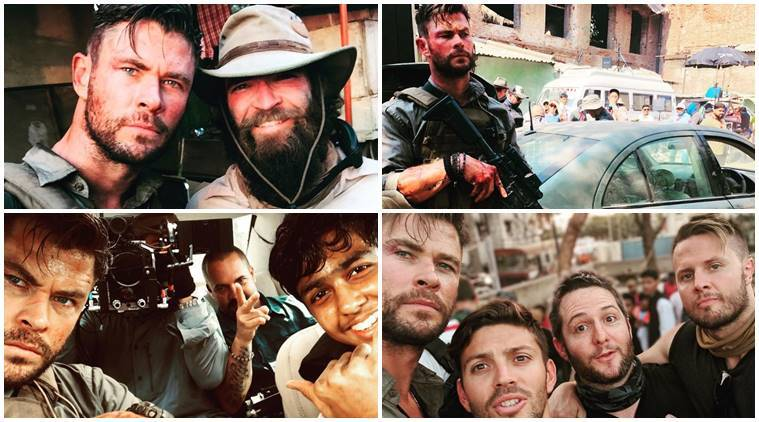 Chris Hemsworth shares photos from the sets of Dhaka