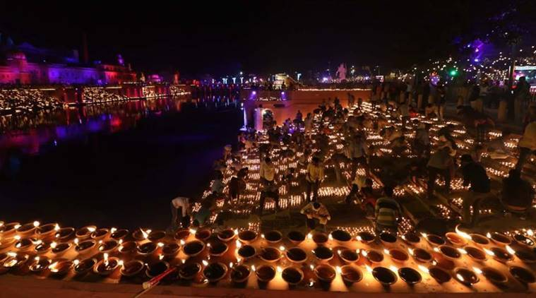 Lakh Diyas Illuminate Ayodhya River Bank In New Guinness World Record