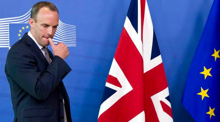 UK's Brexit Secretary Dominic Raab resigns thrusting Theresa May's government into turmoil