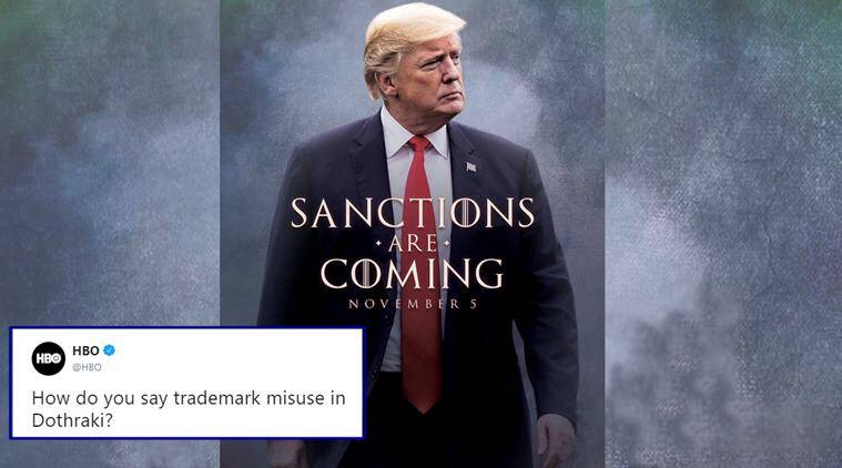 donald trump, game of thrones, trump got meme, trump game of thrones tweet, trump gOT memes, GOT season 8, viral news, indian express