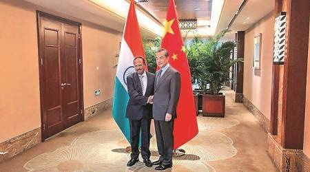 Ajit Doval, NSA, Chinese Foreign Minister Wang Yi, China India relations, narendra modi, world news, indian express