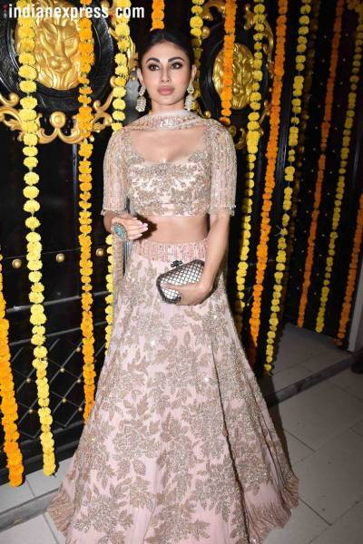 mouni roy at the ekta kapoor diwali party