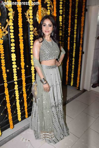 nushrat bharucha at the ekta kapoor diwali party