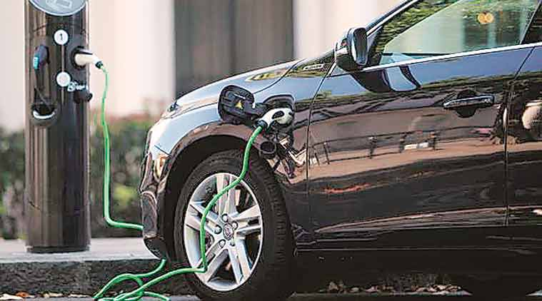 electric vehicles, charging stations, electric vehicle charging station, e corridors, expressway, delhi jaipur highway, delhi jaipur highway, indian express news