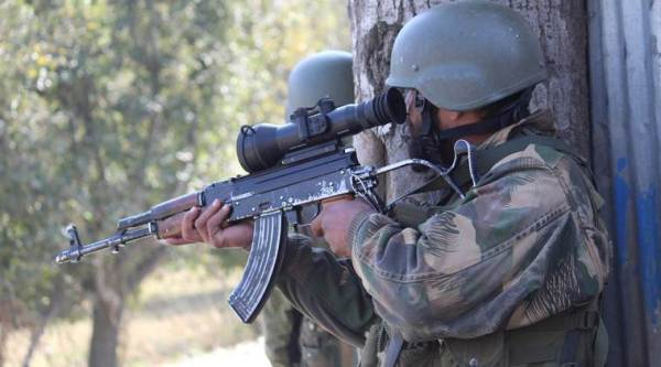 Sopore encounter, Jammu and kashmir, J&K encounter, Indian army, militants killed, Security forces gunfight, BrathKalan, India news, Indian express news