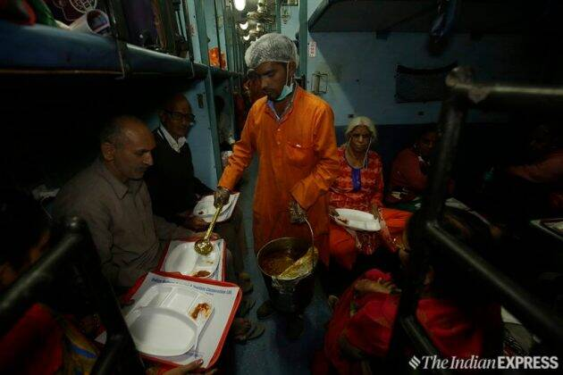 Aboard the Ramayana Express, there are Bhajans, chants of Jai Shri Ram and more