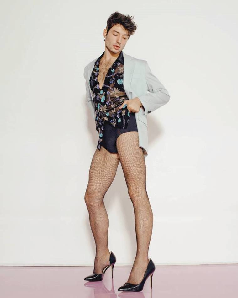 Playboy, Ezra Miller, Fantastic Beasts: The Crimes of Grindewald, playboy model lingerie,