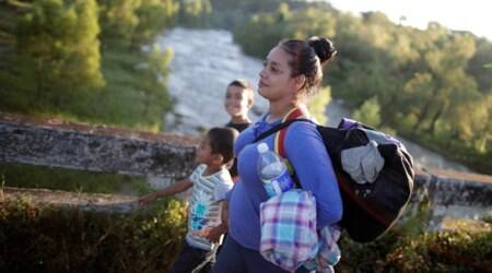 A day in the life of a migrant caravan inMexico