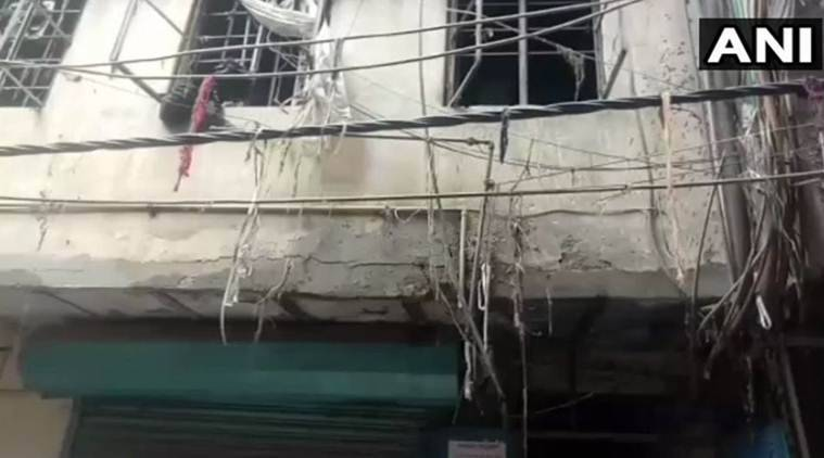 Four people were killed in the fire which broke out in Karol Bagh on Monday. (ANI)