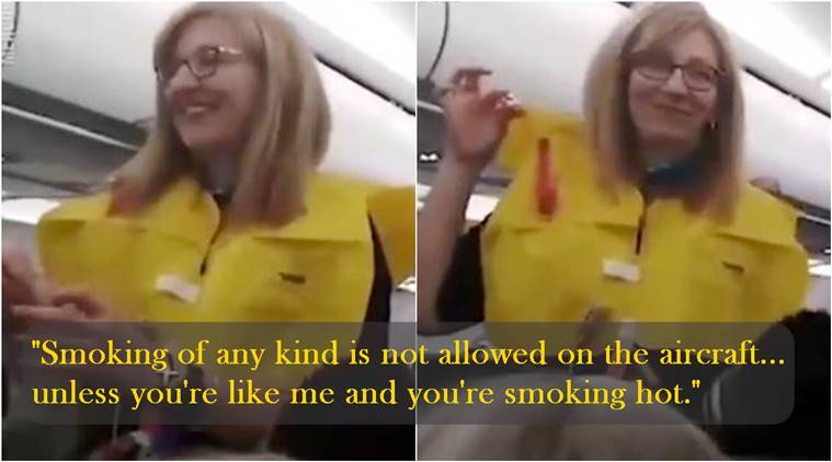 Watch Quirky Flight Attendant Leaves Passengers In Splits With Hilarious Safety Announcement Trending News The Indian Express